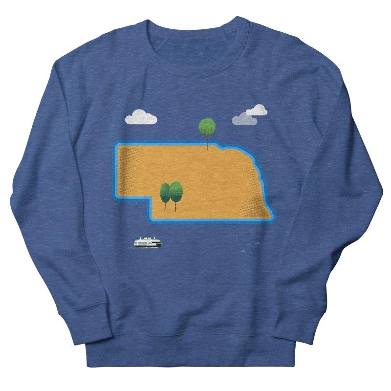 Nebraska Island Women's French Terry Sweatshirt by Illustrations by Phil