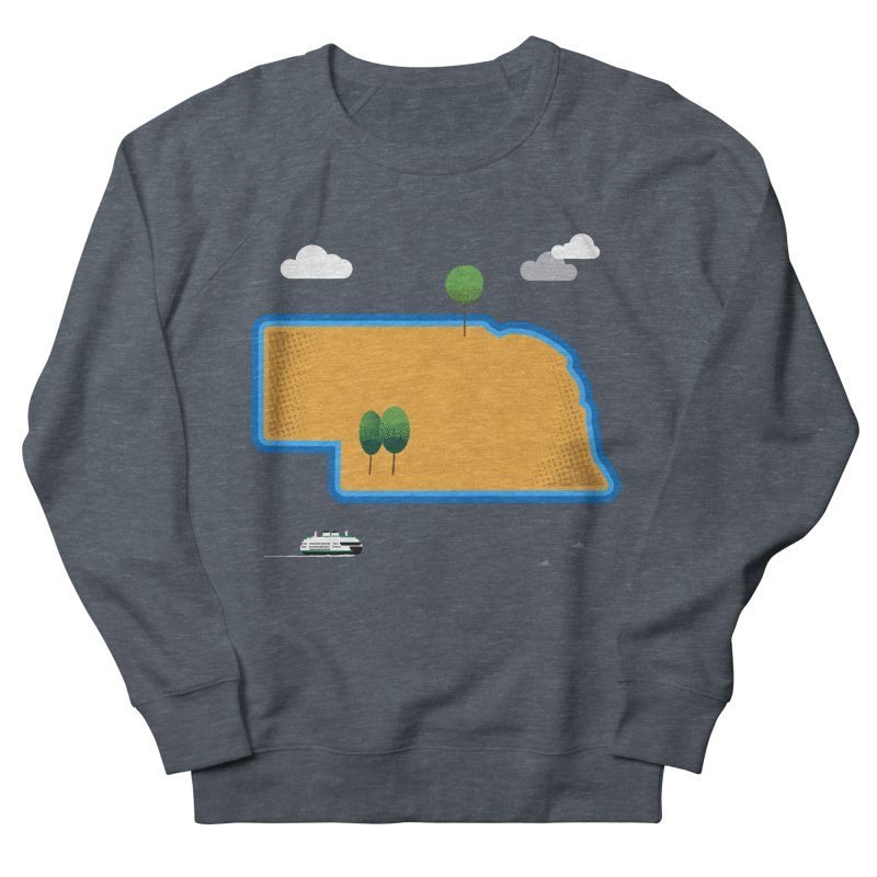Nebraska Island Women's French Terry Sweatshirt by Illustrations by Phil