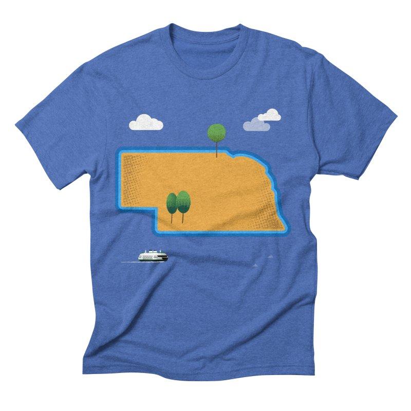 Nebraska Island Men's Triblend T-Shirt by Illustrations by Phil