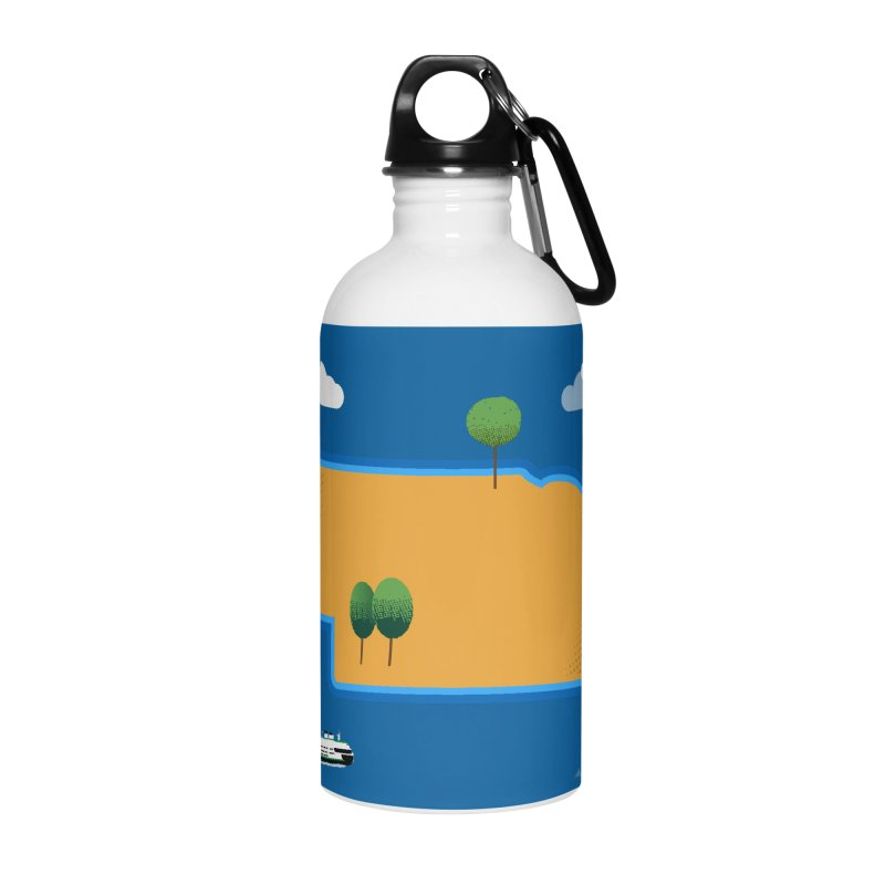 Nebraska Island Accessories Water Bottle by Illustrations by Phil