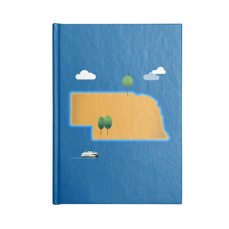 Nebraska Island Accessories Notebook by Illustrations by Phil