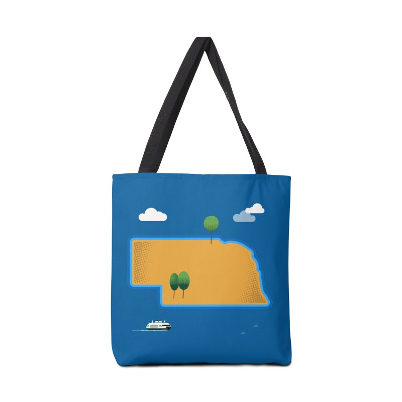 Nebraska Island Accessories Bag by Illustrations by Phil