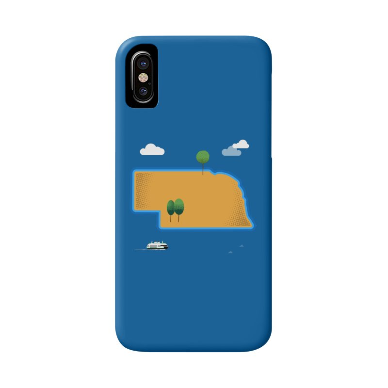 Nebraska Island Accessories Phone Case by Illustrations by Phil