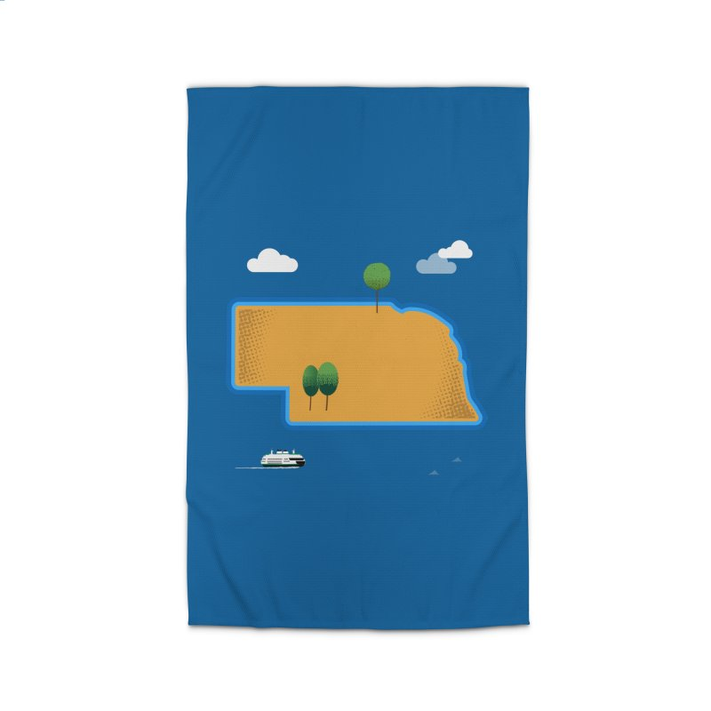 Nebraska Island Home Rug by Illustrations by Phil