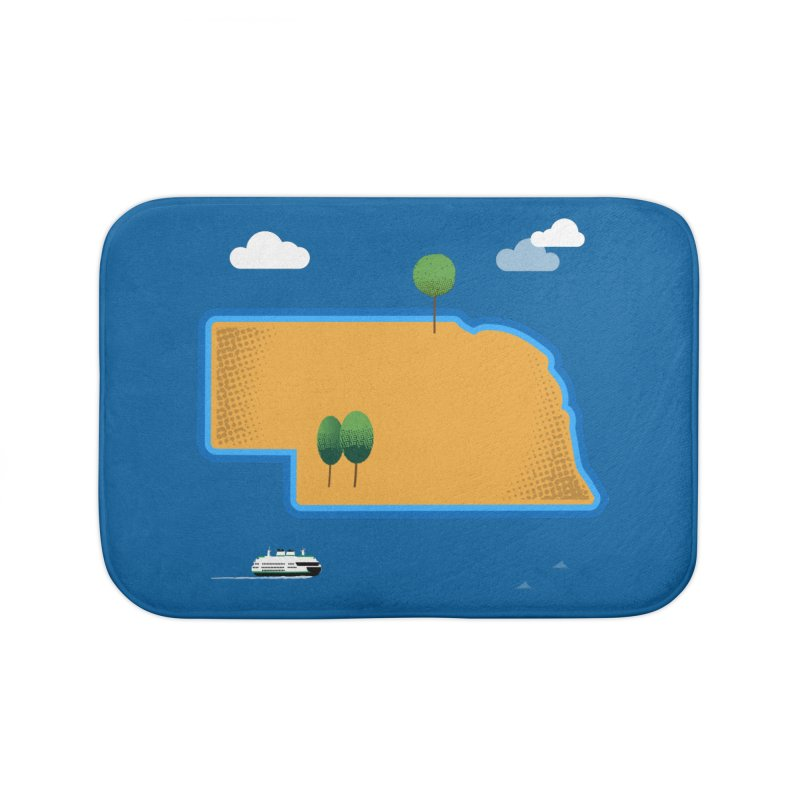Nebraska Island Home Bath Mat by Illustrations by Phil