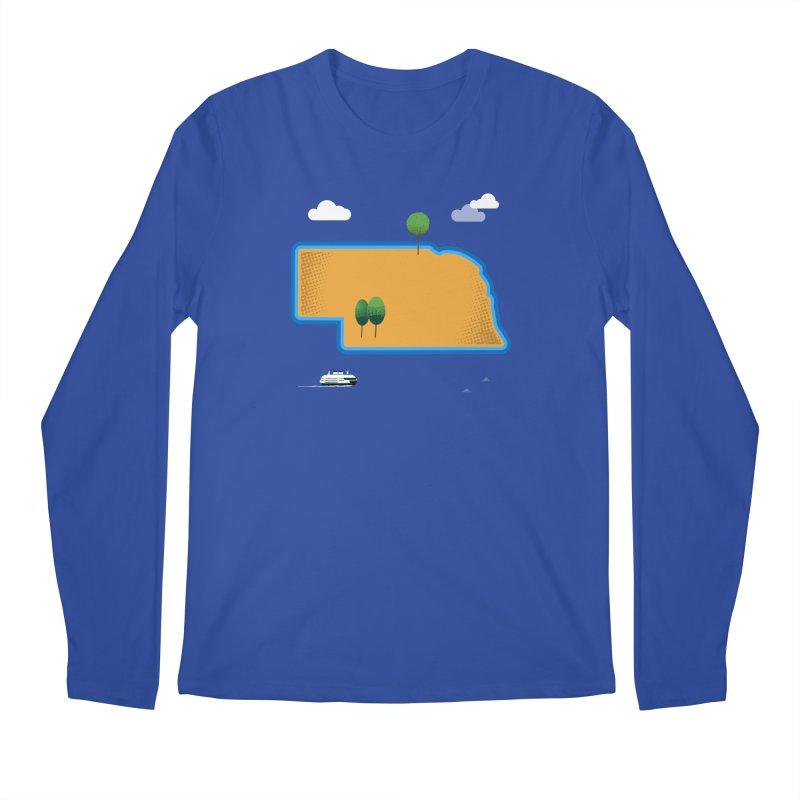 Nebraska Island Men's Regular Longsleeve T-Shirt by Illustrations by Phil