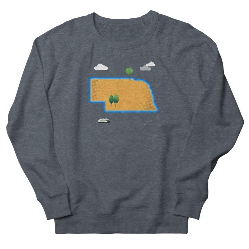 Nebraska Island Men's French Terry Sweatshirt by Illustrations by Phil