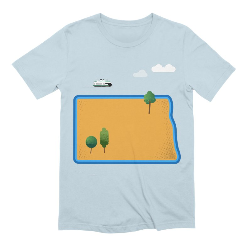 North Dakota Island Men's Extra Soft T-Shirt by Illustrations by Phil