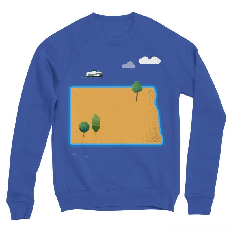 North Dakota Island Women's Sponge Fleece Sweatshirt by Illustrations by Phil