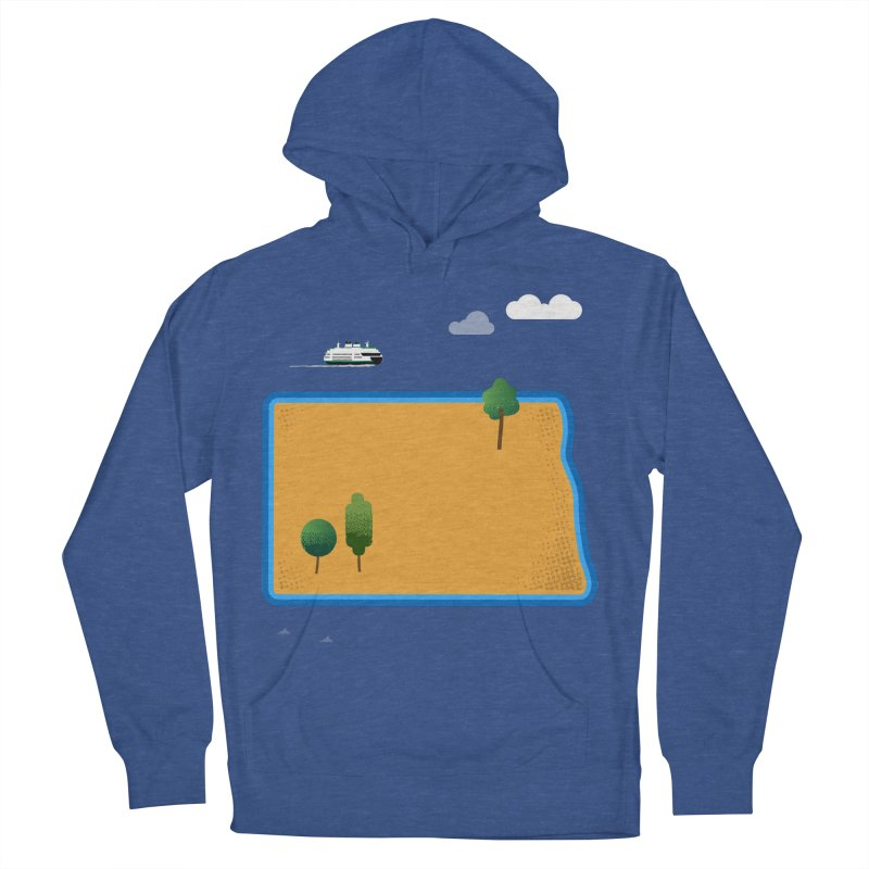 North Dakota Island Women's French Terry Pullover Hoody by Illustrations by Phil