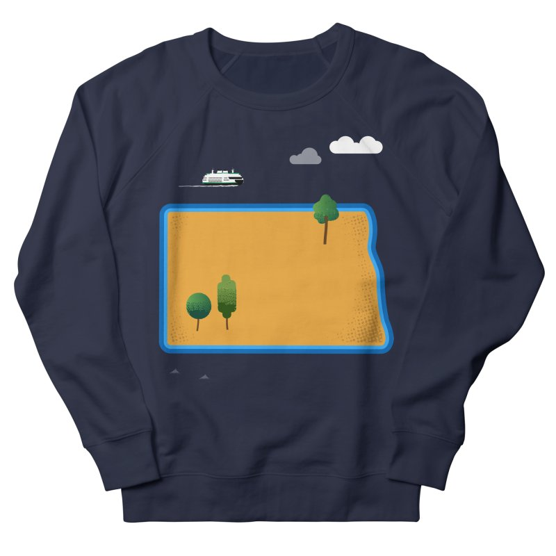 North Dakota Island Women's French Terry Sweatshirt by Illustrations by Phil