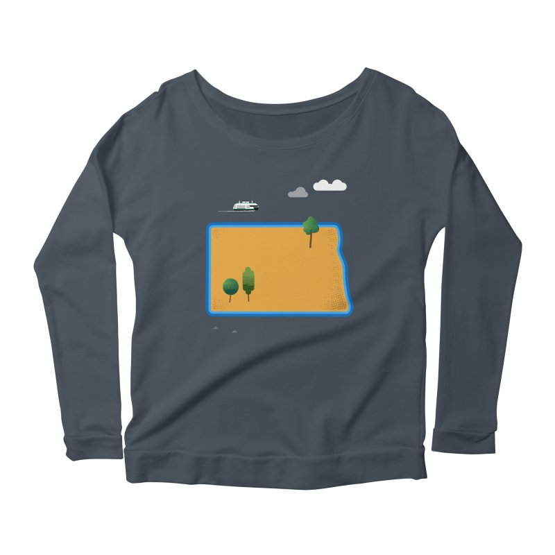 North Dakota Island Women's Scoop Neck Longsleeve T-Shirt by Illustrations by Phil