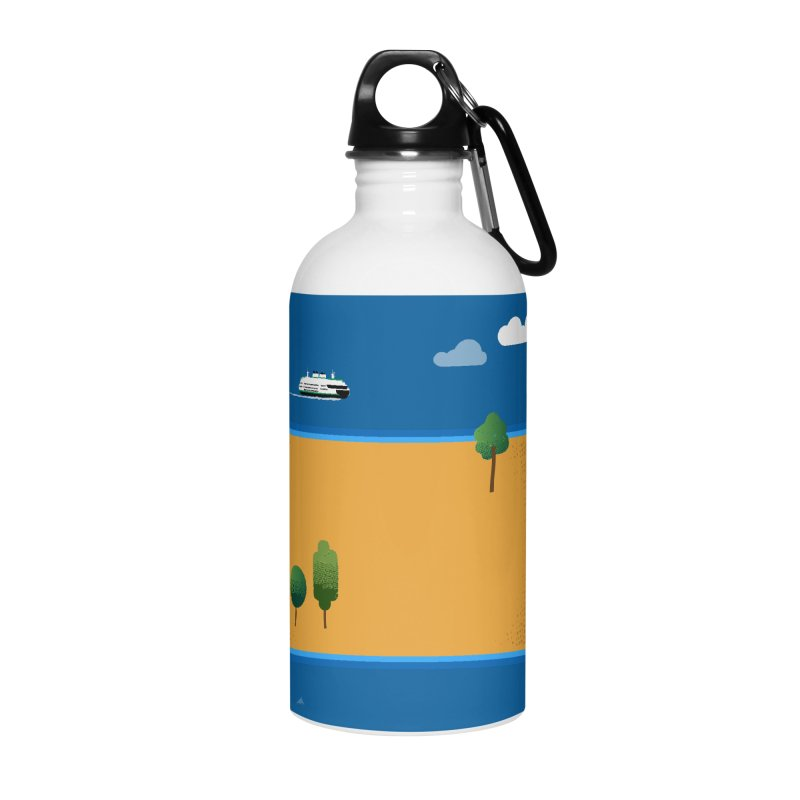 North Dakota Island Accessories Water Bottle by Illustrations by Phil