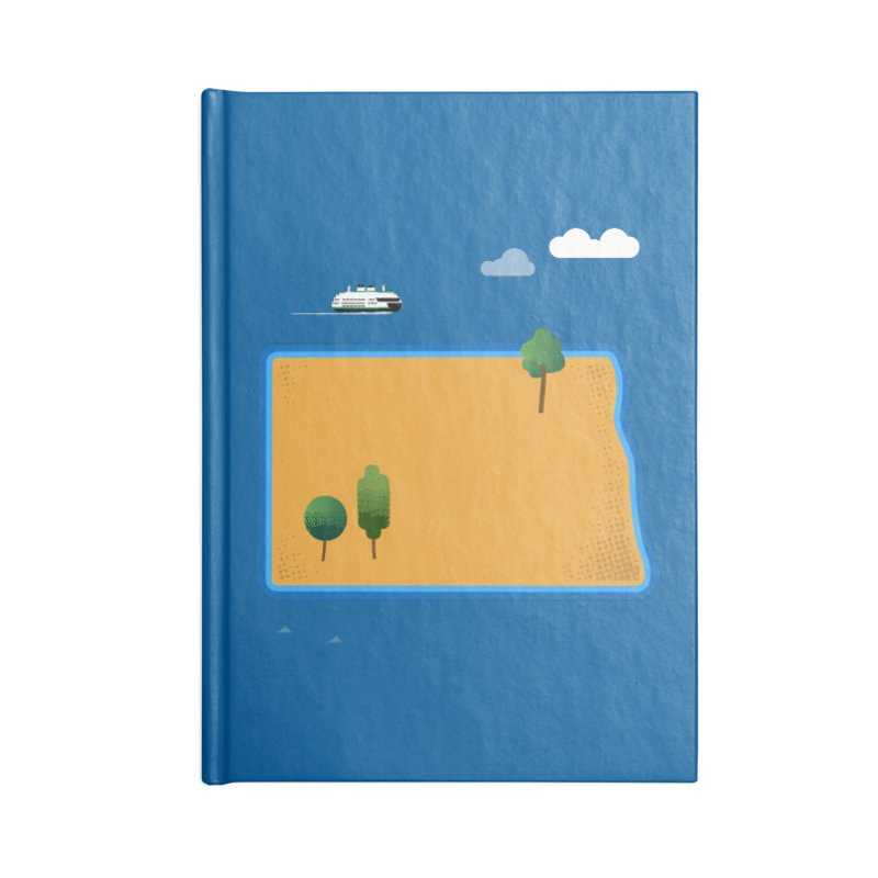 North Dakota Island Accessories Notebook by Illustrations by Phil
