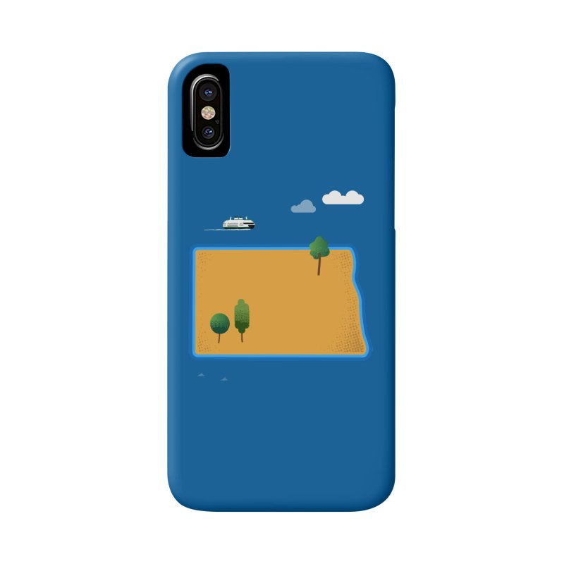 North Dakota Island Accessories Phone Case by Illustrations by Phil