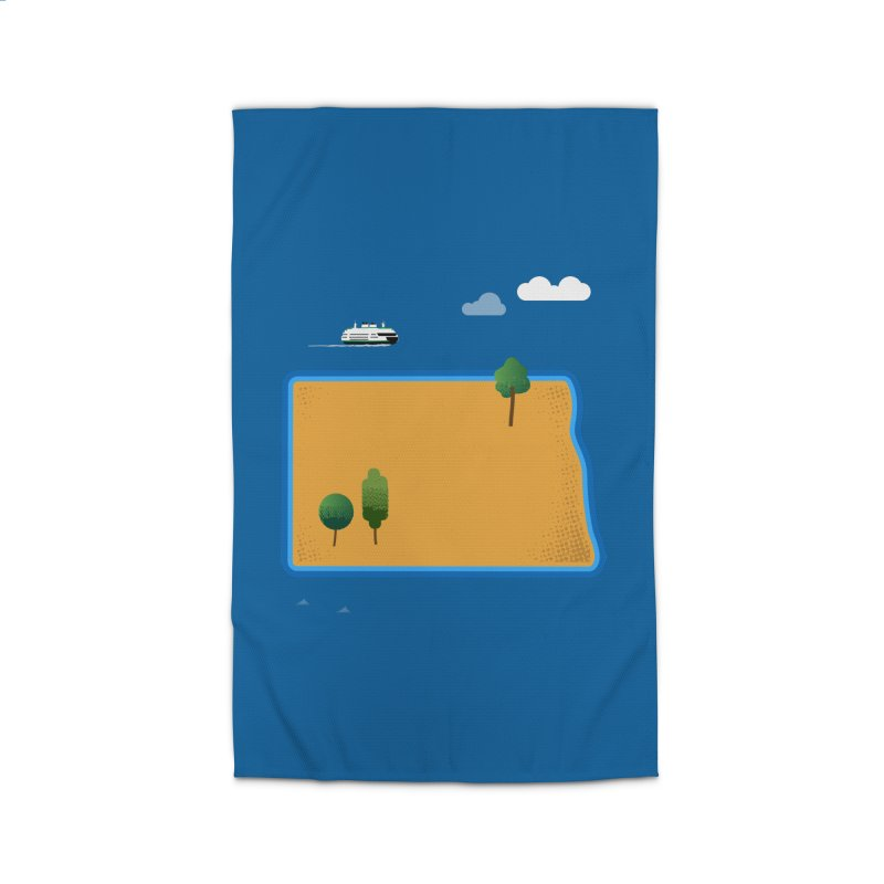 North Dakota Island Home Rug by Illustrations by Phil