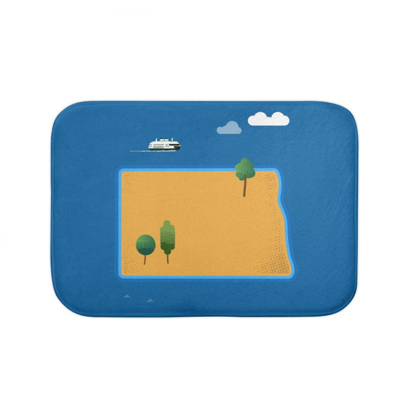 North Dakota Island Home Bath Mat by Illustrations by Phil