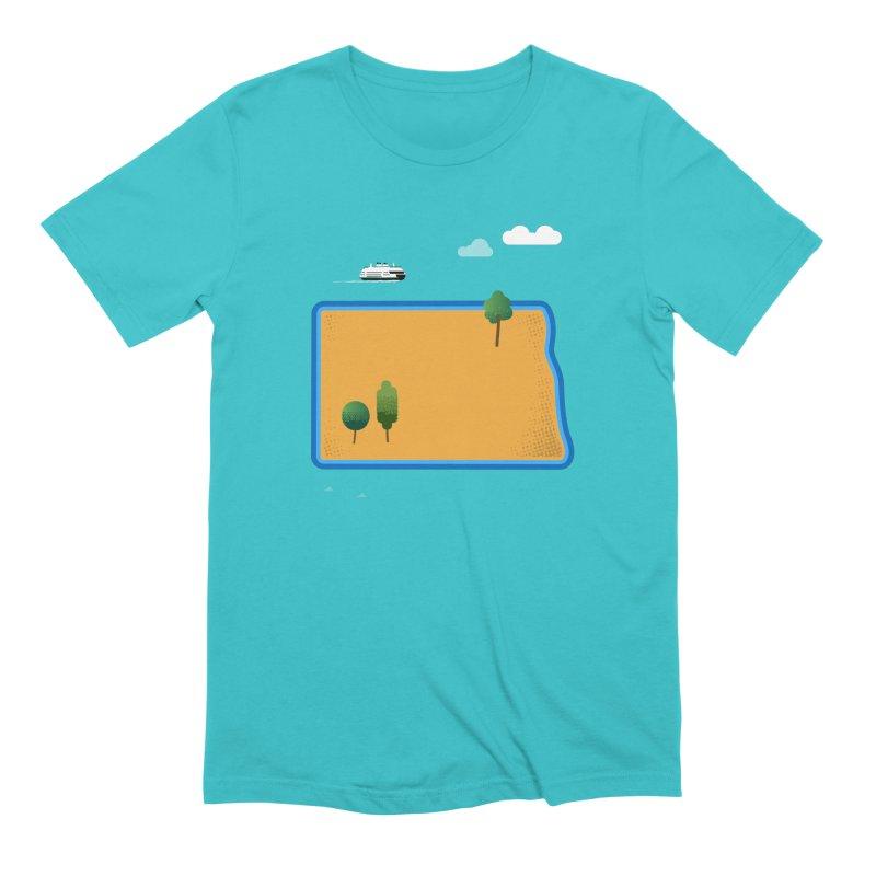 North Dakota Island Men's Extra Soft T-Shirt by Illustrations by Phil