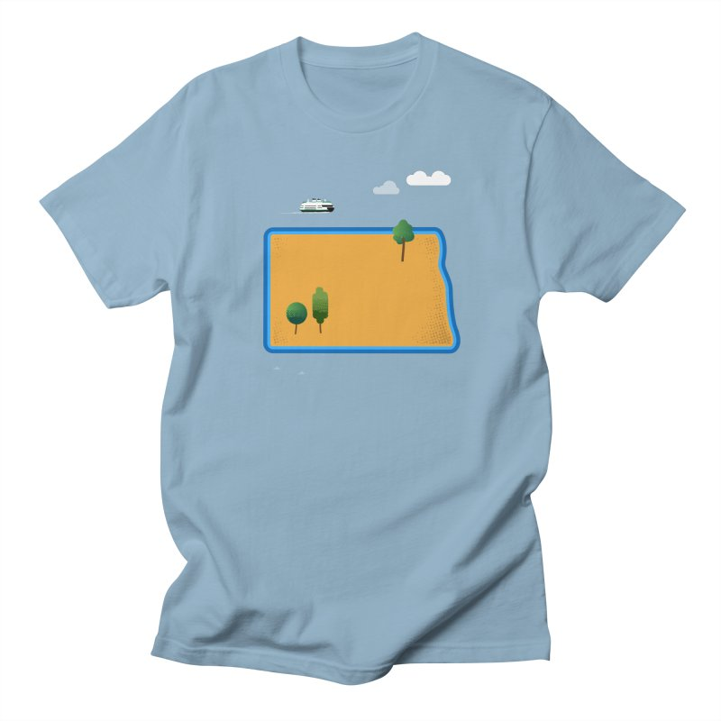 North Dakota Island Women's Regular Unisex T-Shirt by Illustrations by Phil