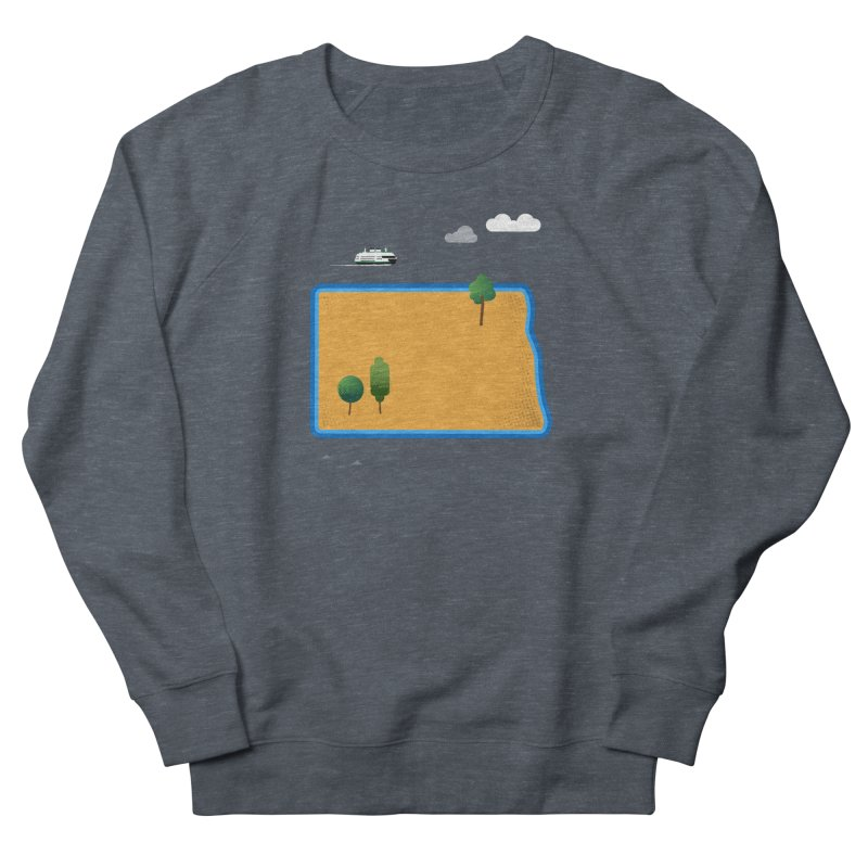 North Dakota Island Women's French Terry Sweatshirt by Illustrations by Phil