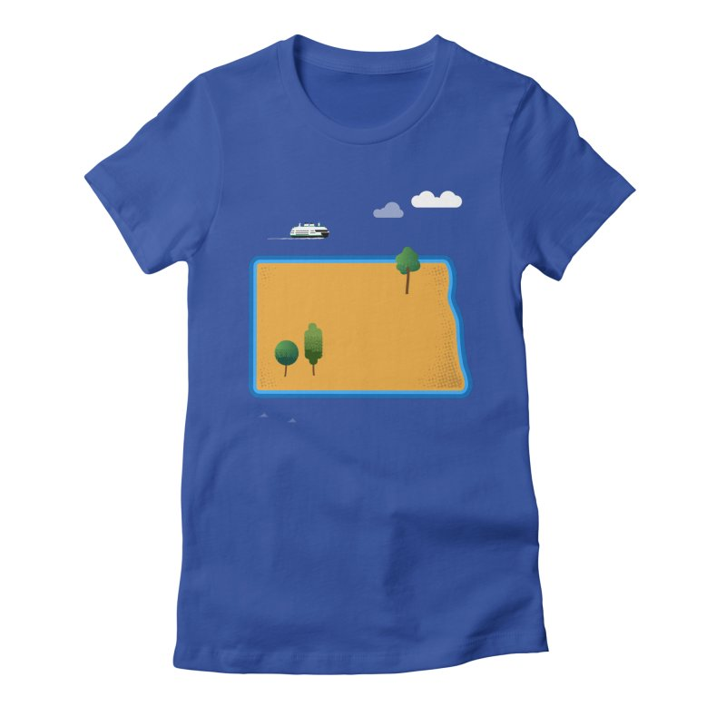 North Dakota Island Women's Fitted T-Shirt by Illustrations by Phil