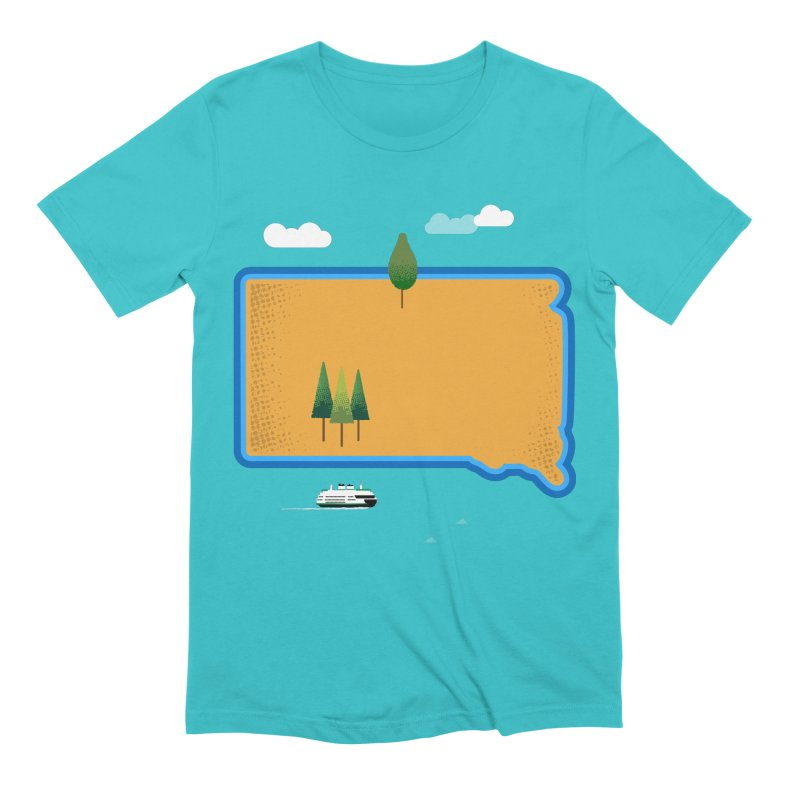 South Dakota island Men's Extra Soft T-Shirt by Illustrations by Phil
