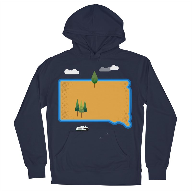 South Dakota island Women's French Terry Pullover Hoody by Illustrations by Phil
