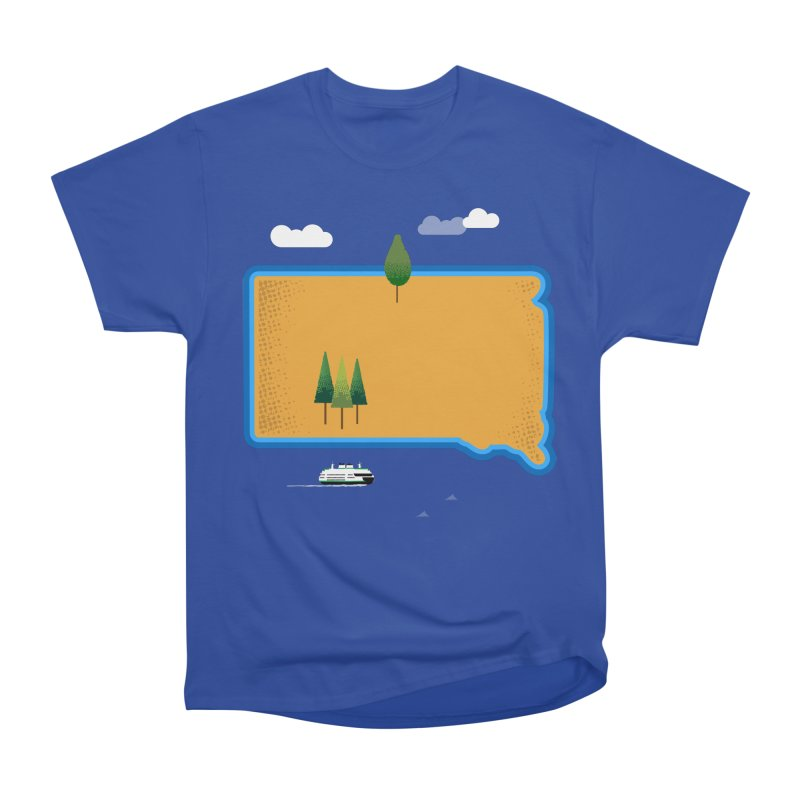 South Dakota island Women's Heavyweight Unisex T-Shirt by Illustrations by Phil