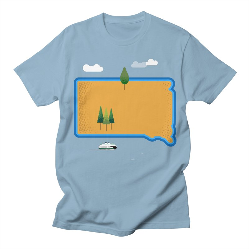 South Dakota island Women's Regular Unisex T-Shirt by Illustrations by Phil