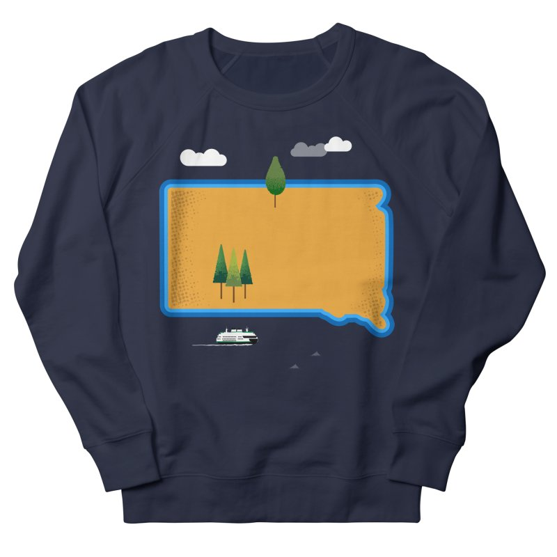 South Dakota island Women's French Terry Sweatshirt by Illustrations by Phil
