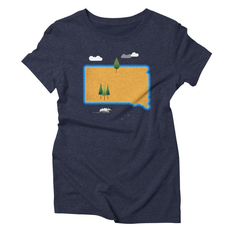 South Dakota island Women's Triblend T-Shirt by Illustrations by Phil