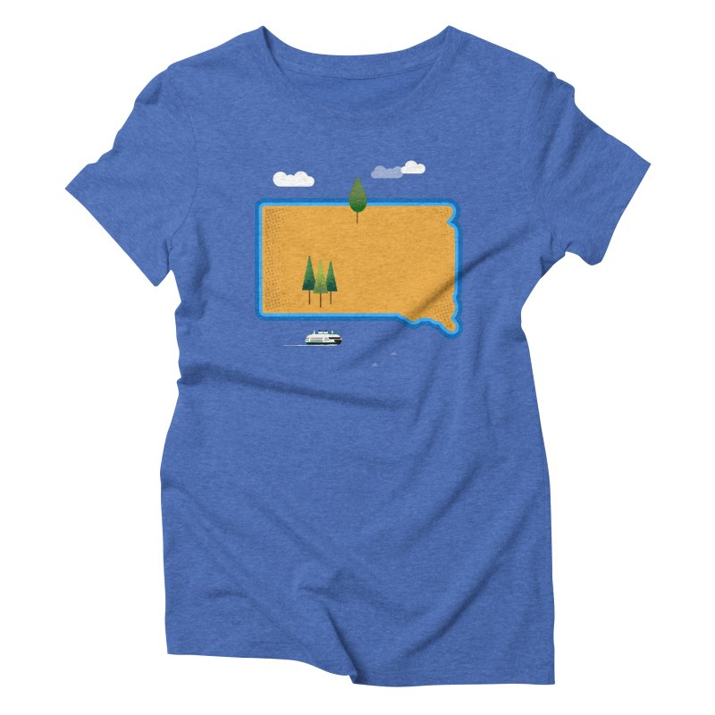 South Dakota island Women's Triblend T-Shirt by Illustrations by Phil