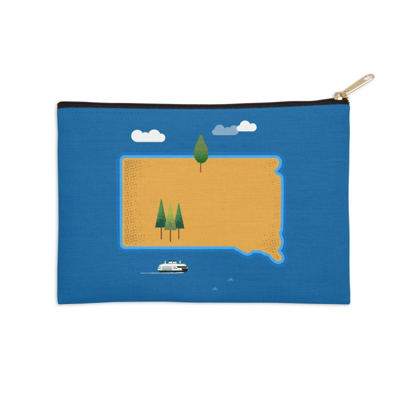 South Dakota island Accessories Zip Pouch by Illustrations by Phil