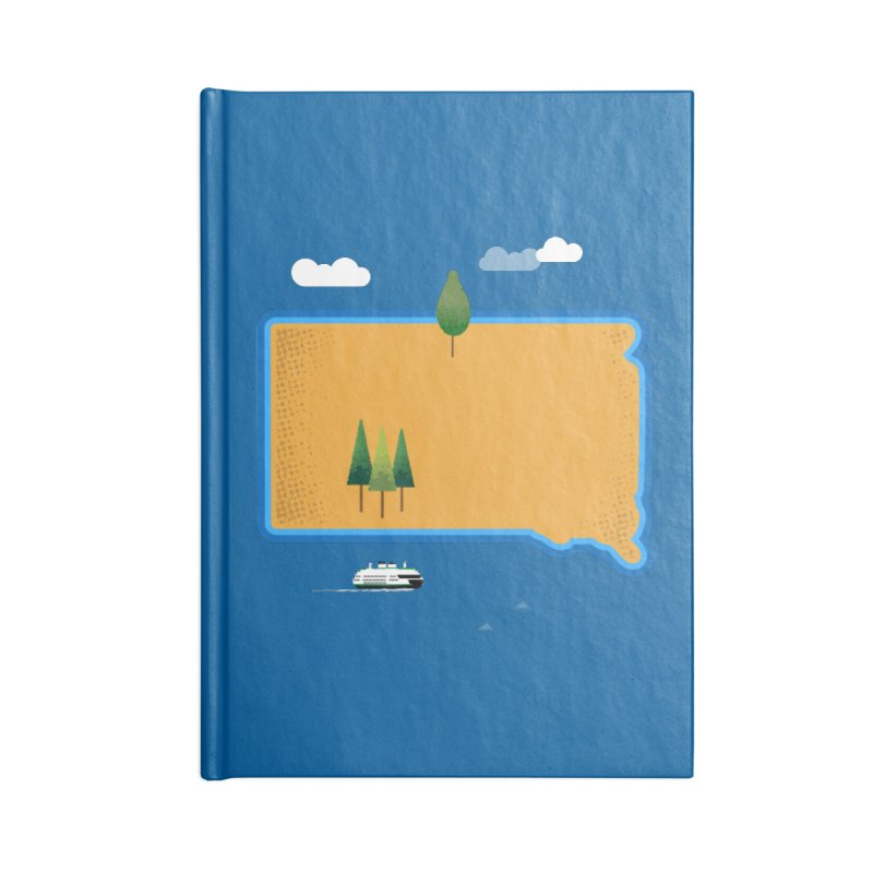 South Dakota island Accessories Notebook by Illustrations by Phil