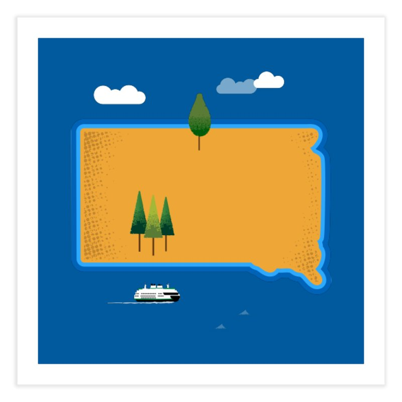 South Dakota island Home Fine Art Print by Illustrations by Phil