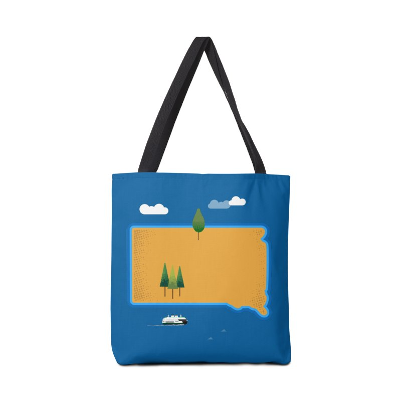 South Dakota island Accessories Bag by Illustrations by Phil