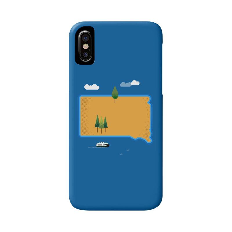 South Dakota island Accessories Phone Case by Illustrations by Phil