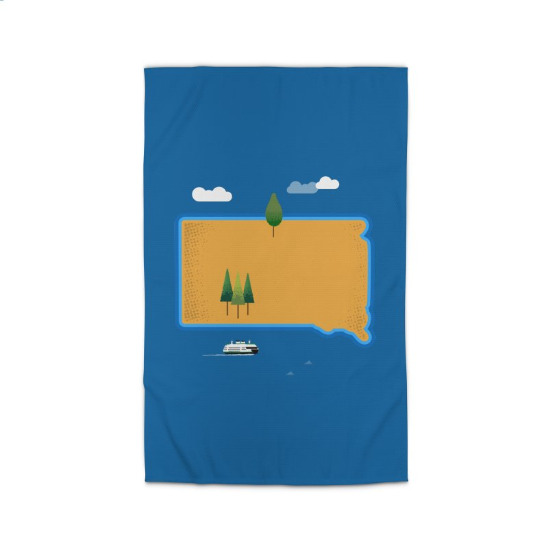 South Dakota island Home Rug by Illustrations by Phil