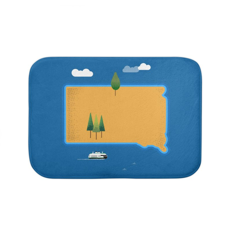 South Dakota island Home Bath Mat by Illustrations by Phil