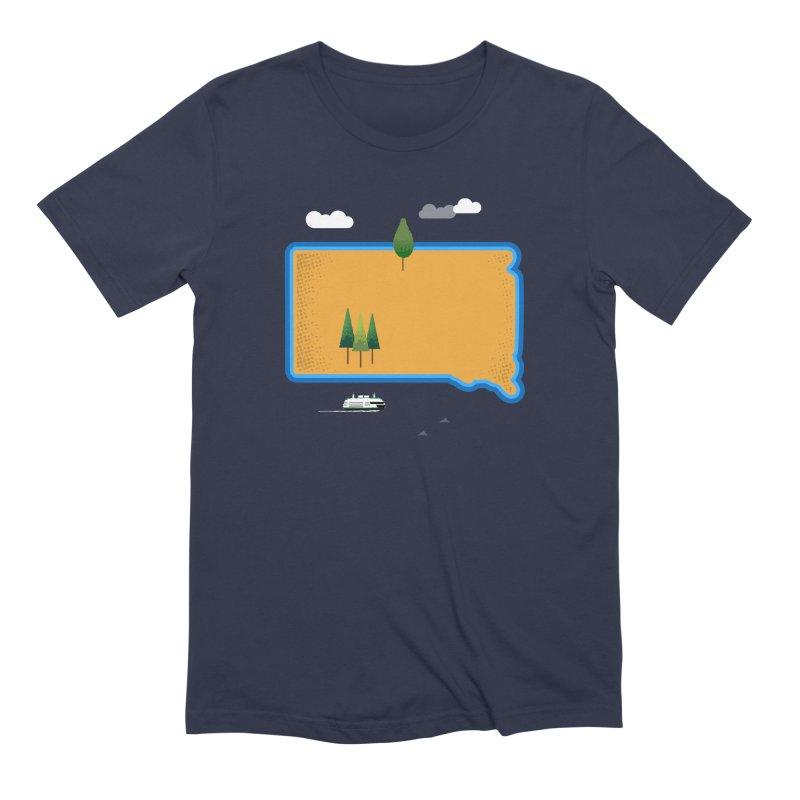 South Dakota island Men's Extra Soft T-Shirt by Illustrations by Phil