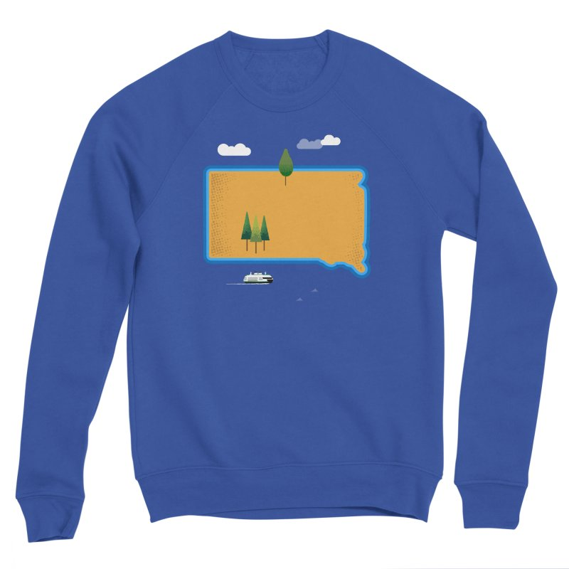 South Dakota island Women's Sponge Fleece Sweatshirt by Illustrations by Phil
