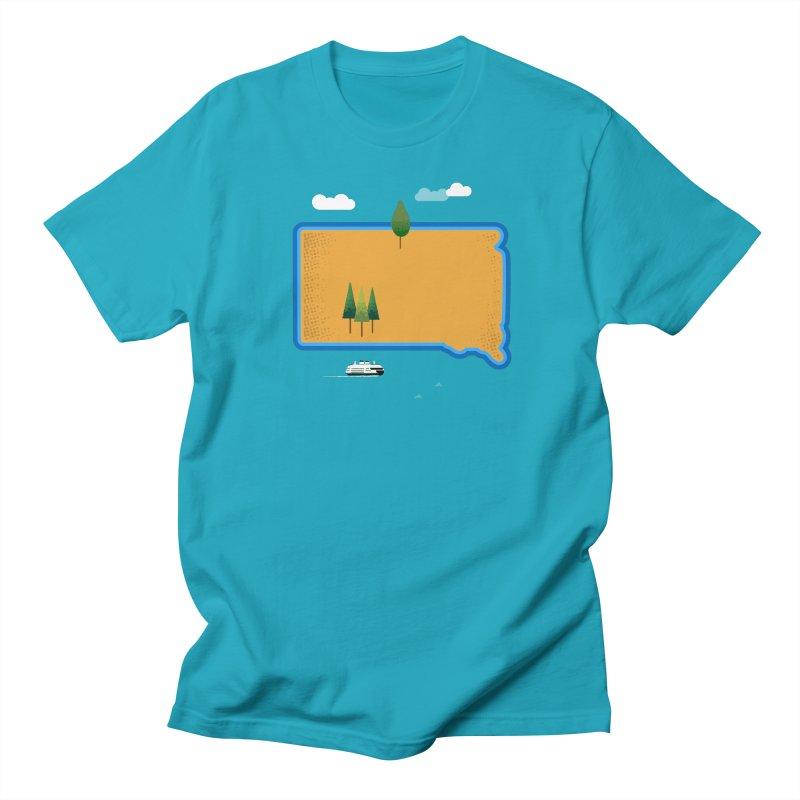 South Dakota island Women's Regular Unisex T-Shirt by Illustrations by Phil