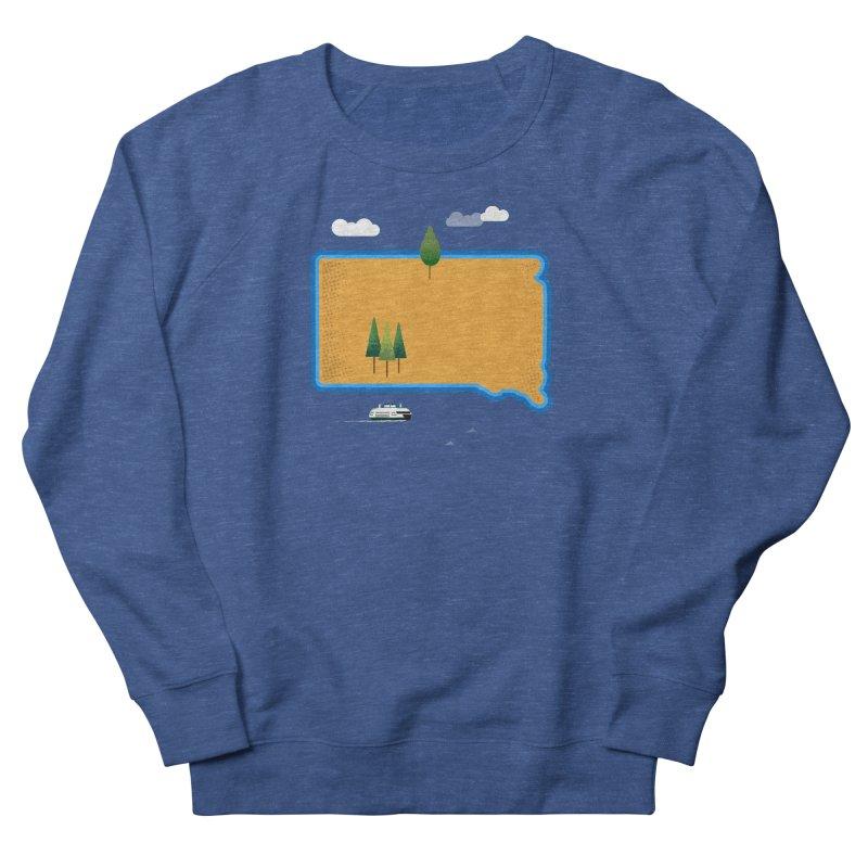 South Dakota island Women's French Terry Sweatshirt by Illustrations by Phil