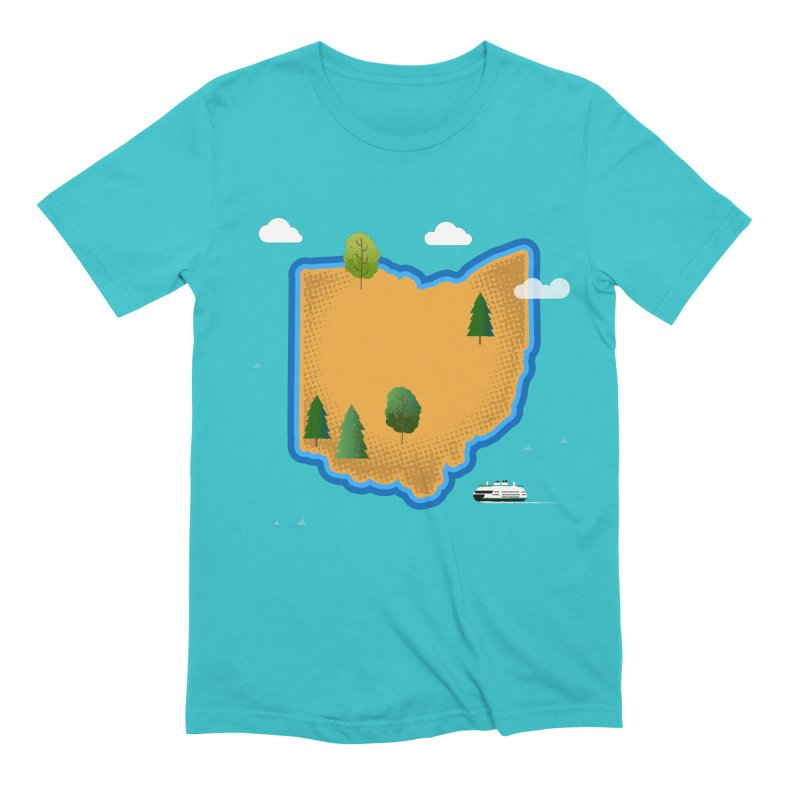 Ohio Island Men's Extra Soft T-Shirt by Illustrations by Phil