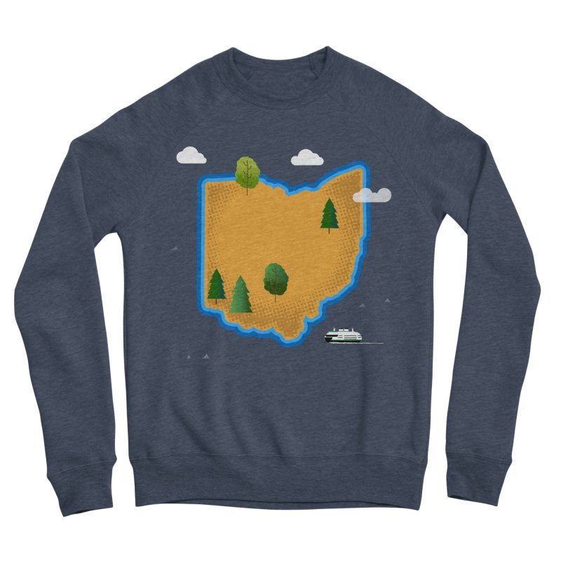 Ohio Island Women's Sponge Fleece Sweatshirt by Illustrations by Phil