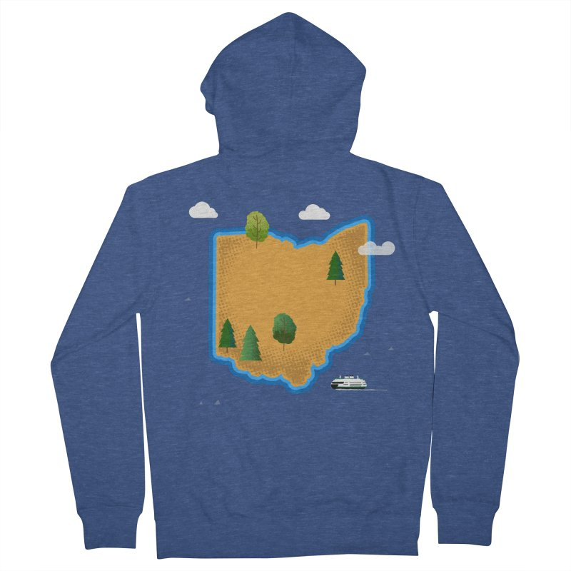 Ohio Island Women's French Terry Zip-Up Hoody by Illustrations by Phil