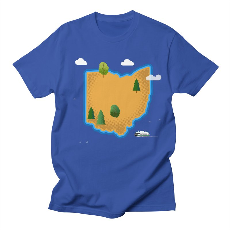 Ohio Island Women's Regular Unisex T-Shirt by Illustrations by Phil