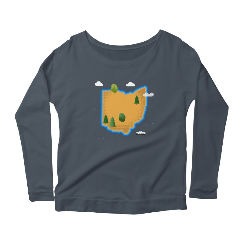 Ohio Island Women's Scoop Neck Longsleeve T-Shirt by Illustrations by Phil