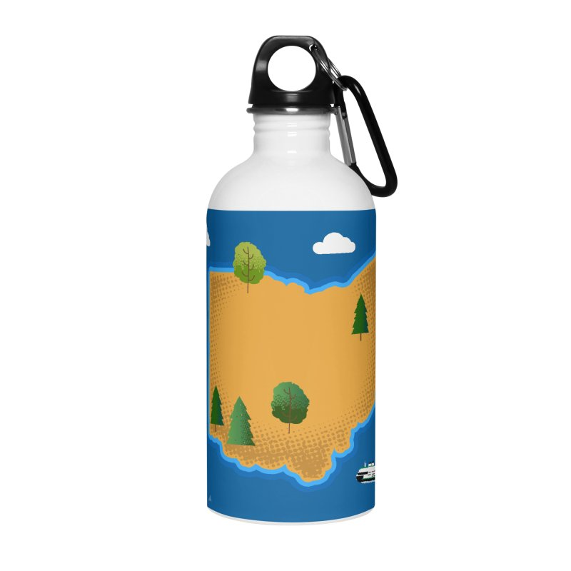 Ohio Island Accessories Water Bottle by Illustrations by Phil