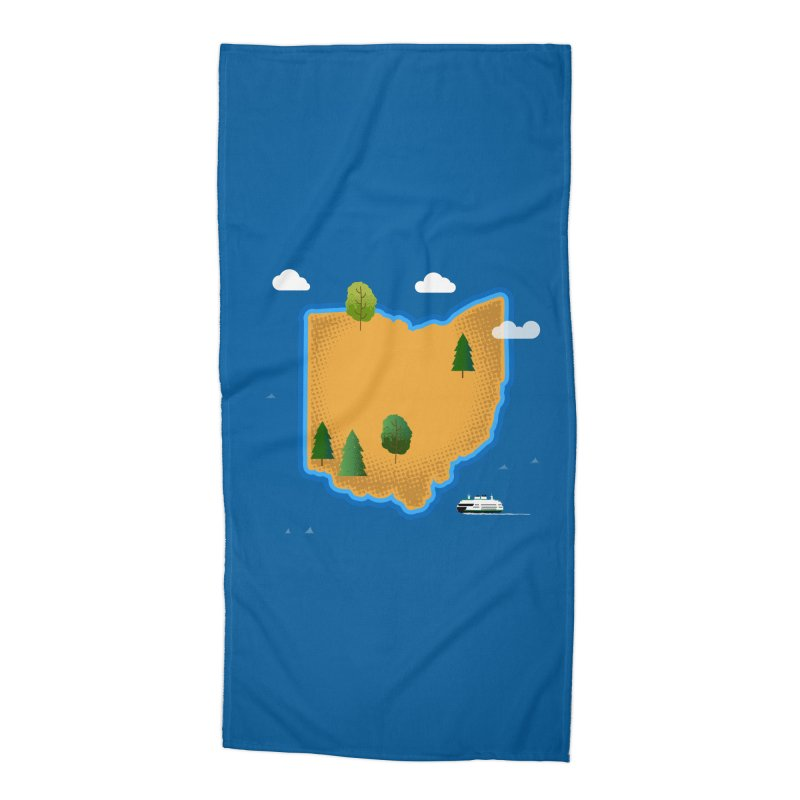 Ohio Island Accessories Beach Towel by Illustrations by Phil